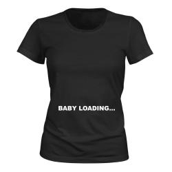 Baby Loading - T-SHIRT - DAM svart M