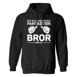 Fantastisk Bror - Hoodie / Tröja - HERR Svart - 2XL
