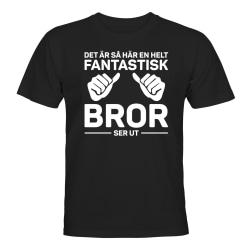 Fantastisk Bror - T-SHIRT - UNISEX Svart - XL