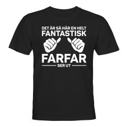 Fantastisk Farfar - T-SHIRT - UNISEX Svart - L