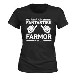 Fantastisk Farmor - T-SHIRT - DAM svart M