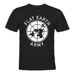 Flat Earth Army - T-SHIRT - HERR Svart - L