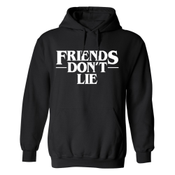 Friends Dont Lie - Hoodie / Tröja - HERR Svart - 3XL