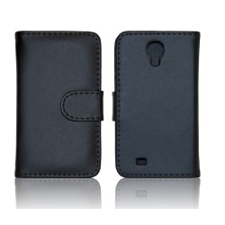 Samsung Galaxy S4 Fodral/Skydd/Plånbok i Läder (SVART) svart