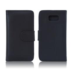 Samsung Galaxy S6 Fodral/Plånbok i Läder (SVART) svart