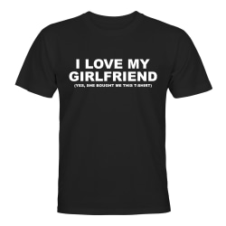 I Love My Girlfriend - T-SHIRT - HERR Svart - 2XL