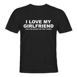 I Love My Girlfriend - T-SHIRT - HERR Svart - L
