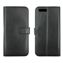 iPhone 5 / 5S plånboksfodral i läder (SVART) svart