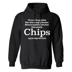 Jag Åt Chips Till Lunch - Hoodie / Tröja - DAM Svart - M