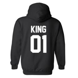 King 01 - Hoodie / Tröja - UNISEX Svart - 3XL