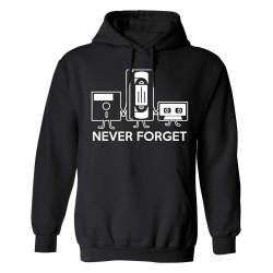Never Forget Kassettband - Hoodie / Tröja - DAM Svart - L
