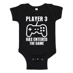 Player 3 Has Entered The Game - Baby Body svart Svart - Nyfödd