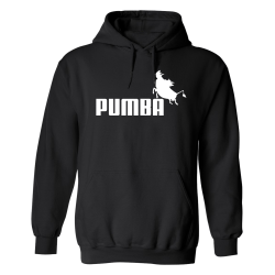 Pumba - Hoodie / Tröja - HERR Svart - 5XL