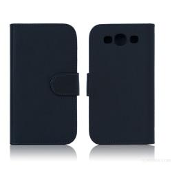Samsung Galaxy S3 Fodral/Plånbok i Läder (SVART) svart