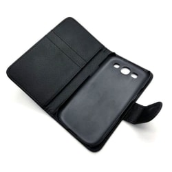 Samsung Galaxy S3 Fodral/Skydd/Plånbok i Läder (SVART) svart