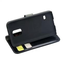 Samsung Galaxy S5 Mini Fodral/Skydd/Plånbok i Läder (SVART) svart