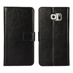 Samsung Galaxy S6 Edge Fodral/Plånbok i Läder (SVART) svart