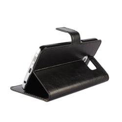 Samsung Galaxy S6 fodral / plånbok (SVART) svart