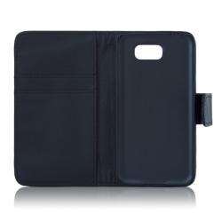 Samsung Galaxy S6 plånboksfodral i läder (SVART) svart