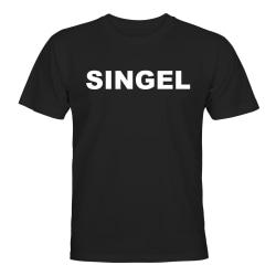 Singel - T-SHIRT - HERR Svart - L