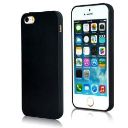 iPhone 5 / 5S Silikonskal Svart Matt svart