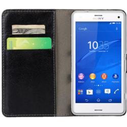 Xperia Z5 compact plånboksfodral svart