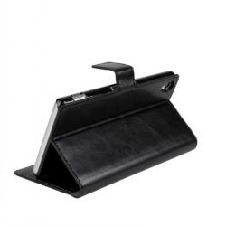 Sony Xperia Z5 Compact Fodral/Plånbok i Läder (SVART) svart
