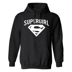Supergirl - Hoodie / Tröja - DAM Svart - XL