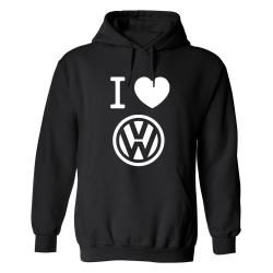 Volkswagen - Hoodie / Tröja - UNISEX Svart - 3XL
