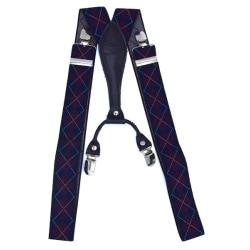 Eleganta hängslen med mönster Blå