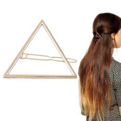 Hårklämma triangel Silver