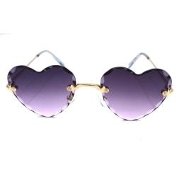 Iced Heart solglasögon - Mörklila  Guld