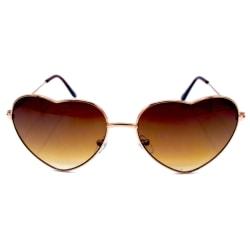 Hjärta solglasögon brun  Brun