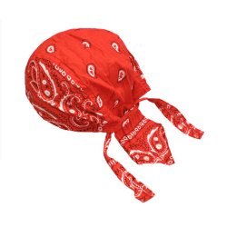 Röd Zandana Pirat Scarf  Röd
