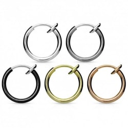 2-PACK Fake Septum Ring Silver