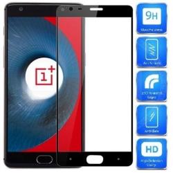2-PACK OnePlus 3/3T FullFrame® 0.26mm 2.5D 9H Härdat Glas Svart