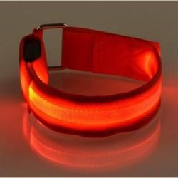 2-PACK Reflex Armband LED / Reflexband Uppladdningsbar Blå