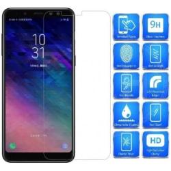 2-PACK Samsung A8 2018 Härdat glas 0.26mm 2.5D 9H Transparent