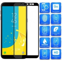 2-PACK Samsung J6 2018 FullFrame® 0.26mm 2.5D 9H Härdat Glas Svart