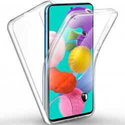 360° Heltäckande Silikonfodral Samsung A51 Transparent