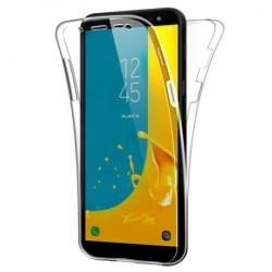 360° Heltäckande Silikonfodral Samsung J6 2018 Transparent