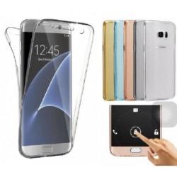 360° Heltäckande Silikonfodral Samsung S7 Edge Transparent