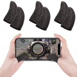 5-PACK Antisvett Finger Sleeve för Mobilspel Svart