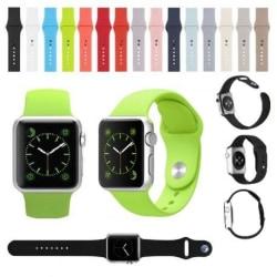 Apple Watch 38mm Stilren Silikon Armband Walkr® Svart
