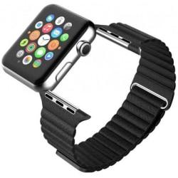 Apple Watch 42mm Läderarmband Magnetlås Loopr® Svart