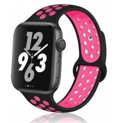 Apple Watch 42mm Stilren Sportarmband Runnr® Svart/Rosa Rosa