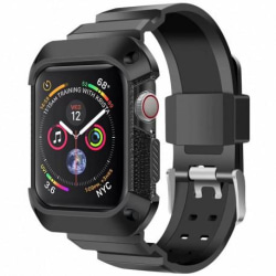Apple Watch 42mm Stöttåligt Skal med Armband TerraActive® Svart