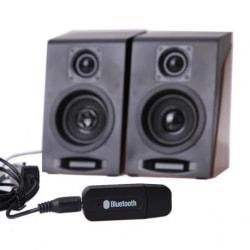 AUX Bluetooth Audio Reciever Stereo Adapter för Trådlös Musik Svart