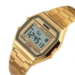 Digital Retro Klocka Guld Guld
