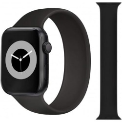Elastisk Sportarmband Apple Watch 38/40mm - Svart Black Medium